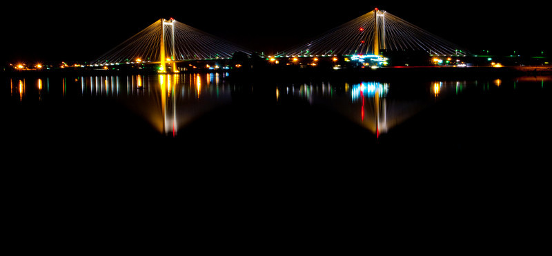 Mycaptures - Cable Bridge Reflection