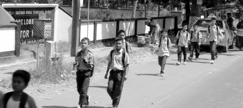 grandmaR - school boys in Lombok