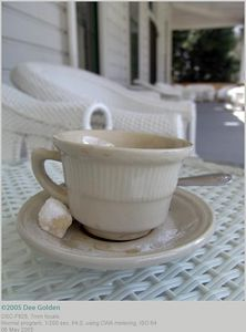 Dee Golden -- Andy's coffee cup at the Wawona Hotel