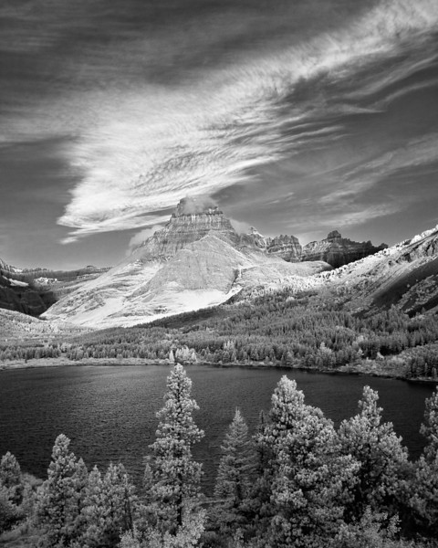 gluwater - Sunrise at Many Glacier in IR