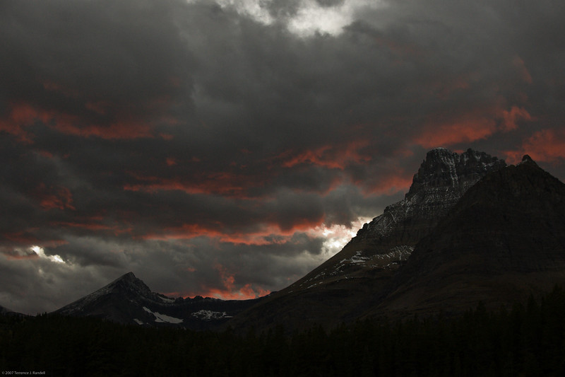 """Terrence - """"Sunset at Many Glacier"""""""