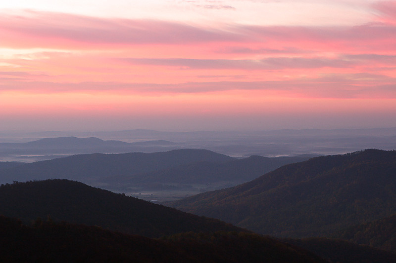 Username: KBTIMAGES<br /> <br /> <br /> Hello,<br /> <br /> This is GSteve looking for some critique to help advance my  <br /> photography.  This example is Skyline Drive morning.  Again, some  <br /> clouds would have been helpful.  Thanks in advance for your insights.<br /> <br /> Regards,<br /> Steve Barnhill