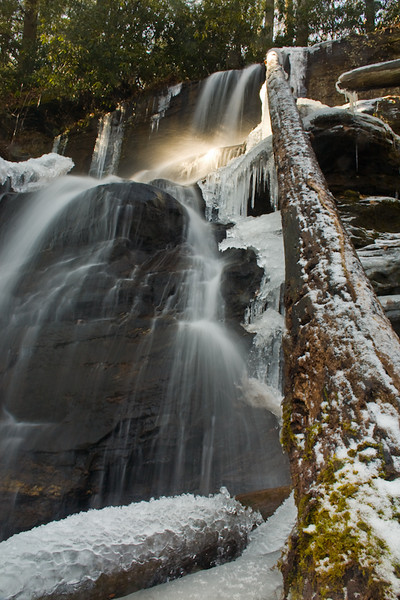 These are the lower falls at Desoto Falls State Park.  I was very interested in that highlight you see.