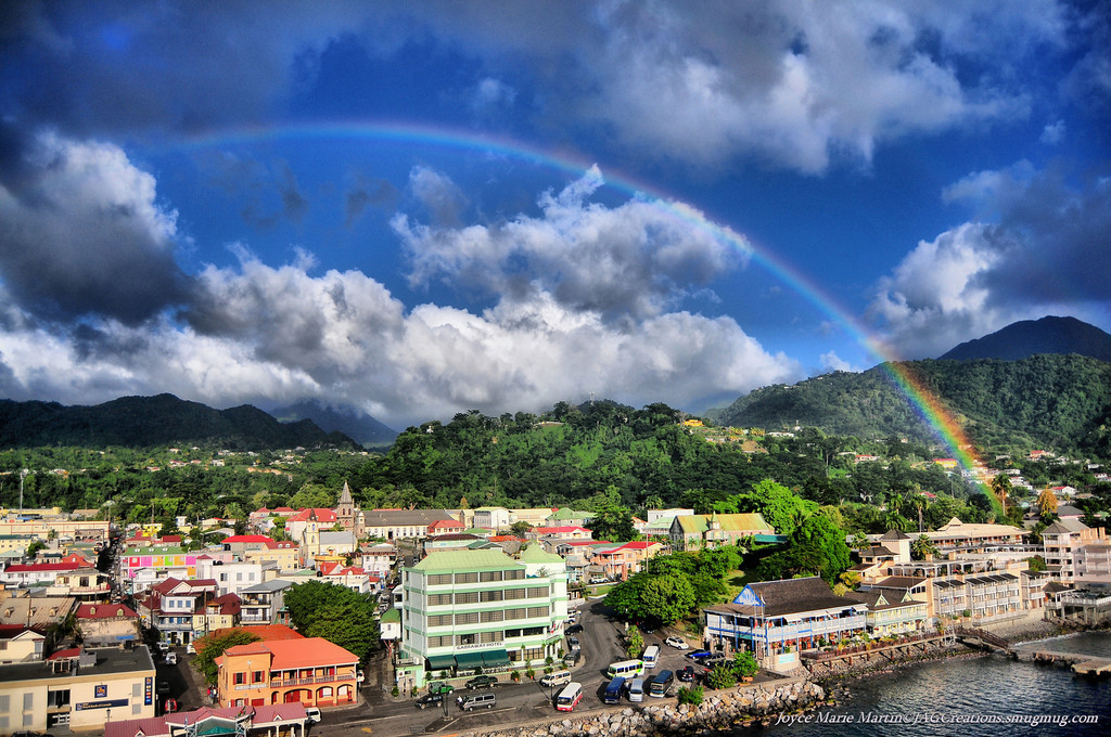 User:  JAG Title:  Roseau, Dominica Rainbow