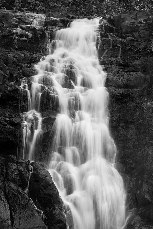 Photographer: CWSkopec Title: Waimea Falls B&W