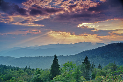 karlabbott -  Cowee Mountains Sunset