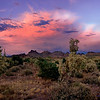 Daveman<br /> superstitions sunset Panorama