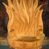 "Kauri ""Flame"" carved Chair, Ancient Kauri Kingdom"