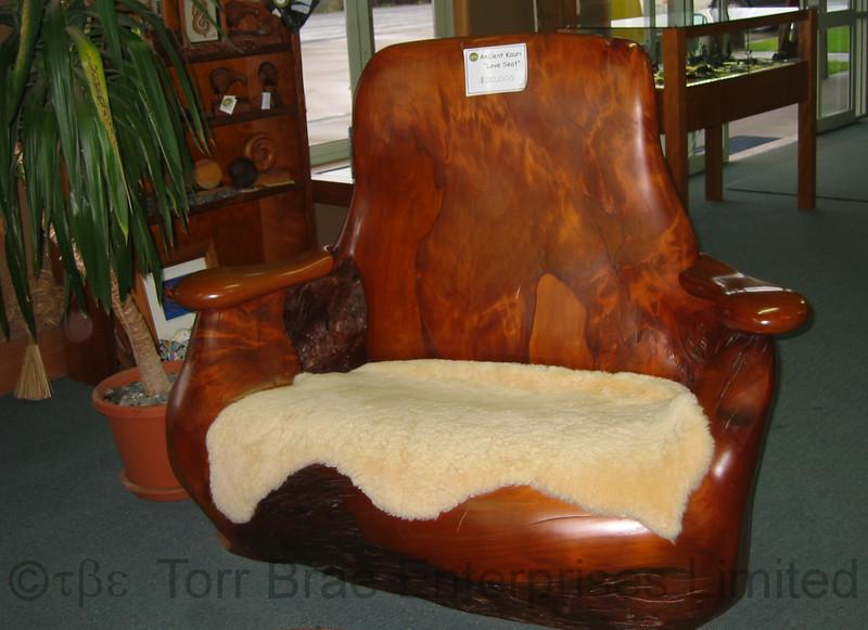 Kauri Love Seat, Ancient Kauri Kingdom