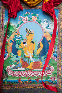 I actually don't know who this deity is but it was hanging next to the 25 foot MB thangka at the Medicine Buddha festival at LMB.