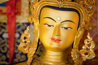 Manjushri close up at Ananda.
