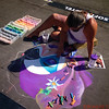 Chalk Walk Artist Creating art on the sidewalks of Little Italy in Downtown San Diego