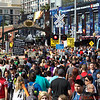 View of Comic Con crowds in the Gas Lamp