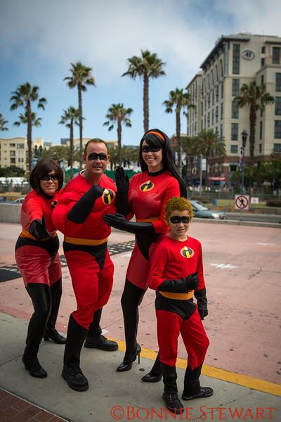 A Family celebrates Comic Con
