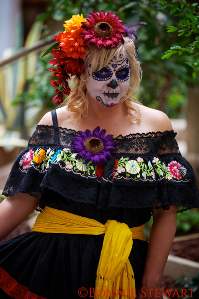 Day of the Dead Costumed Participant