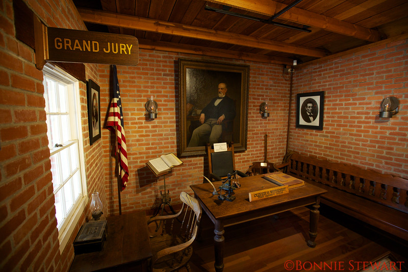First District Judge, Oliver Wetherby, in the historic Court House in Old Town, San Diego