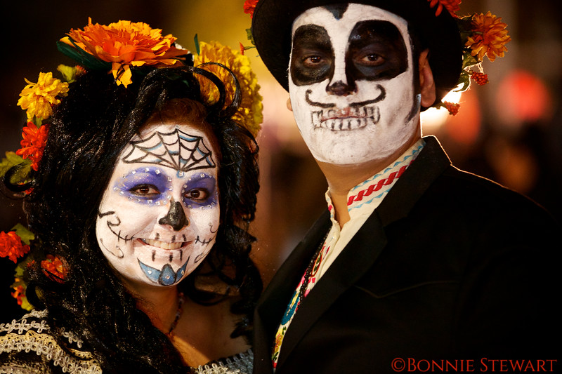 Day of the Dead Costumed Participants, the Candlelight Procession