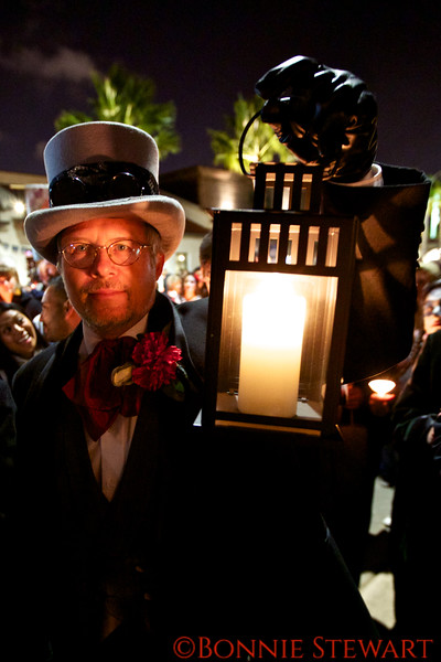 Day of the Dead Costumed Participant, the Candlelight Procession