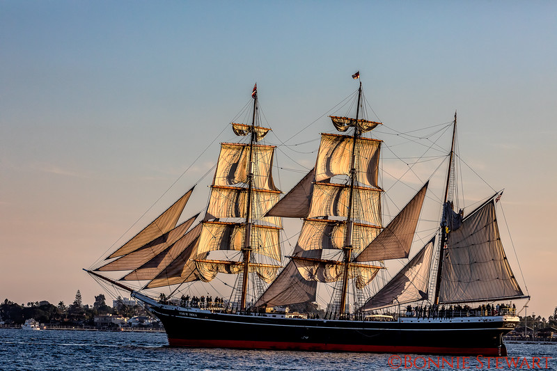 Star of India at sunset