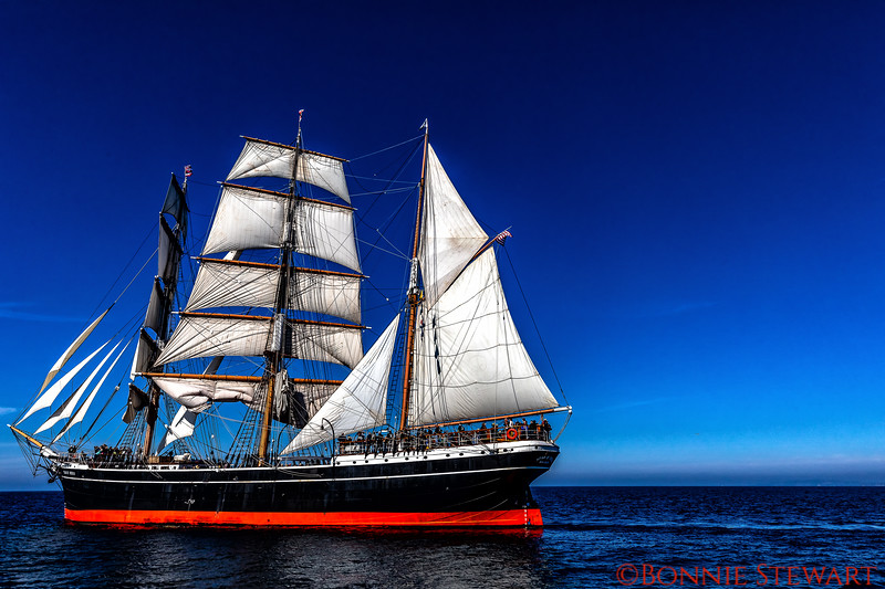 Star of India with full sails