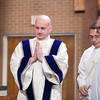 Deacon John Martin after being vested with the stole and dalmatic. (Photo by Juan Guajardo / North Texas Catholic)