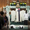 Stephen Hauck and John Martin lie prostrate during the Litany of Saints. (Photo by Juan Guajardo / NTC)