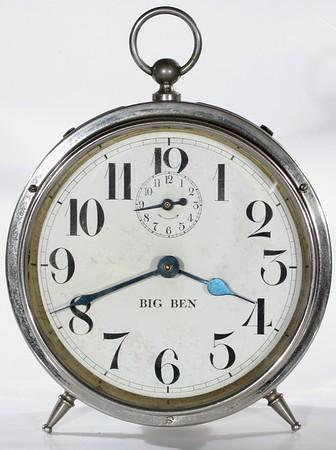 Dials of Westclox Big Ben Style 1 and 1a Alarm Clocks