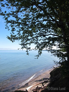 view from lunch spot on Lake Superior