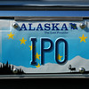 well....model paint in yellow and a very very small brush and the yellow stars are back...  :)<br /> <br /> I did check the Alaska DMV website and they were yellow when issued in 1995