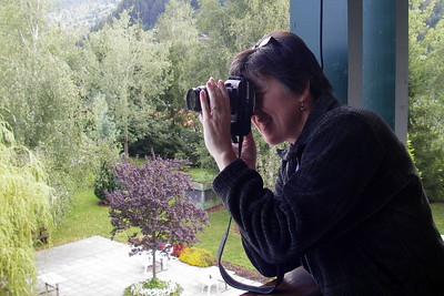 2009, Taking a photo of the Austrian Alps