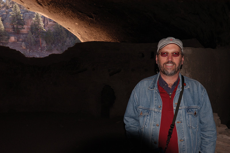 Ted at Gila Cliff Dwellings National Monument, New Mexico, 2005.12.30