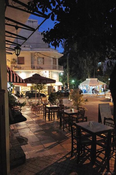 Erechthiou Street café, Athens, Greece, 2017.10.09