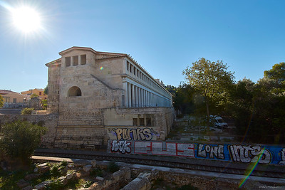 2017.10.10, Stoa of Attalos from Odos Adrianou, Athens, Greece