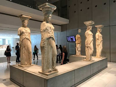 2017.10.10, Erechtheion Caryatids in the New Acropolis Museum, Athens, Greece