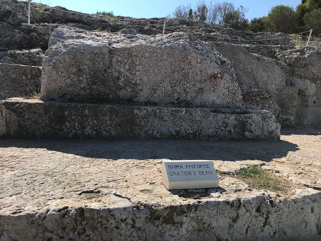 Athens, Pnyx, speakers' platform