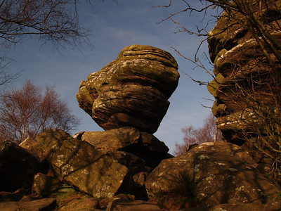 23rd March 2009. Brimham Rocks  We were out for the day and called in here for only about 20 minutes in the afternoon. The light was just right though so got some nice shots that showed off the form and colours quite well.