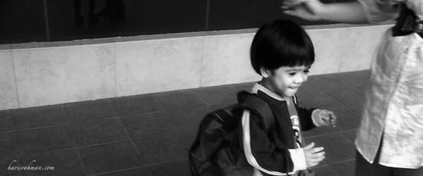 Irfan back from Pingu School