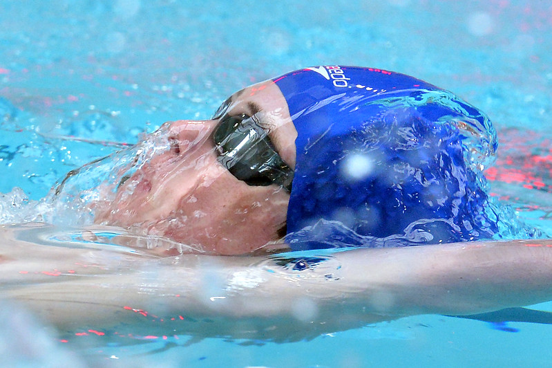 "Broomfield's Ryan Davis swims in the 100 yard backstroke  during the 2016 Dick Rush Coaches Invitational Swim Meet at the Veterans Memorial Aquatic Center in Thornton on Saturday.<br /> More photos:  <a href=""http://www.BoCoPreps.com"">http://www.BoCoPreps.com</a><br /> David R. Jennings/Staff Photographer<br /> March 12, 2016"