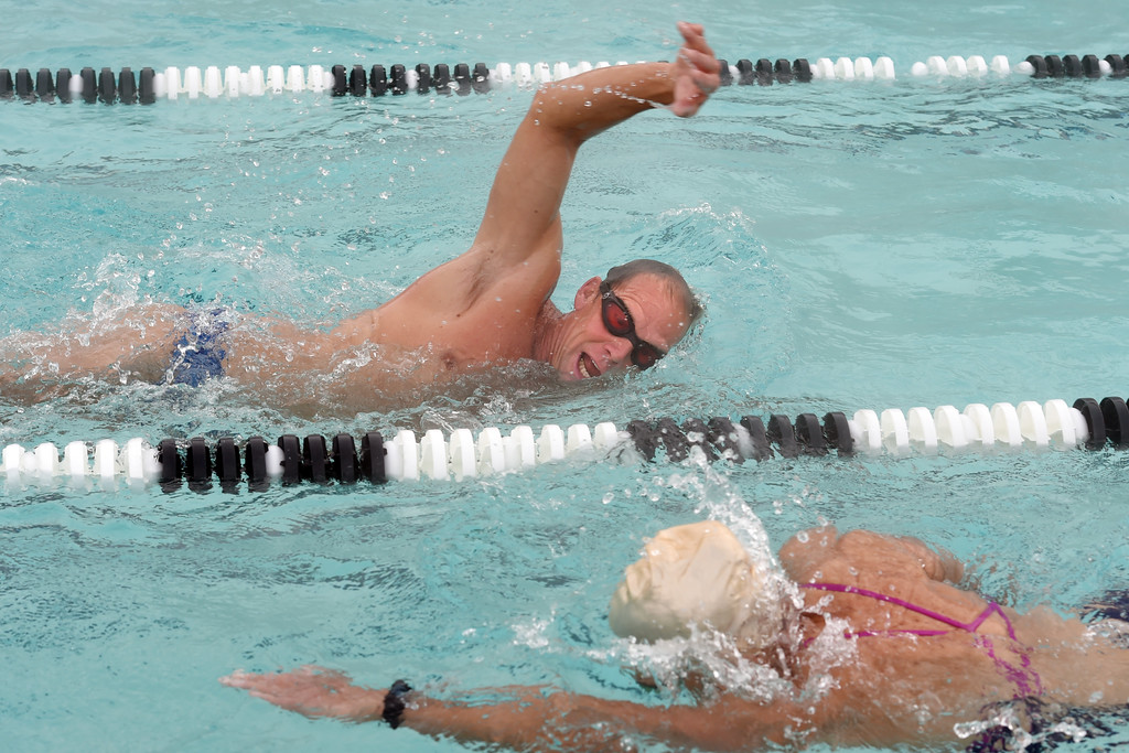 . Dick Sumerfield works out  in the pool at RallySport Health & Fitness in Boulder, training for the next Ironman. Dick Sumerfield was hospitalized for three days and almost died from dehydration after competing in last year\'s Ironman Boulder.  Cliff Grassmick  Staff Photographer May 19, 2017
