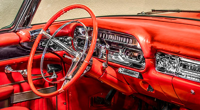 Interior of 1957 Cadillac Series 62 /convertible.