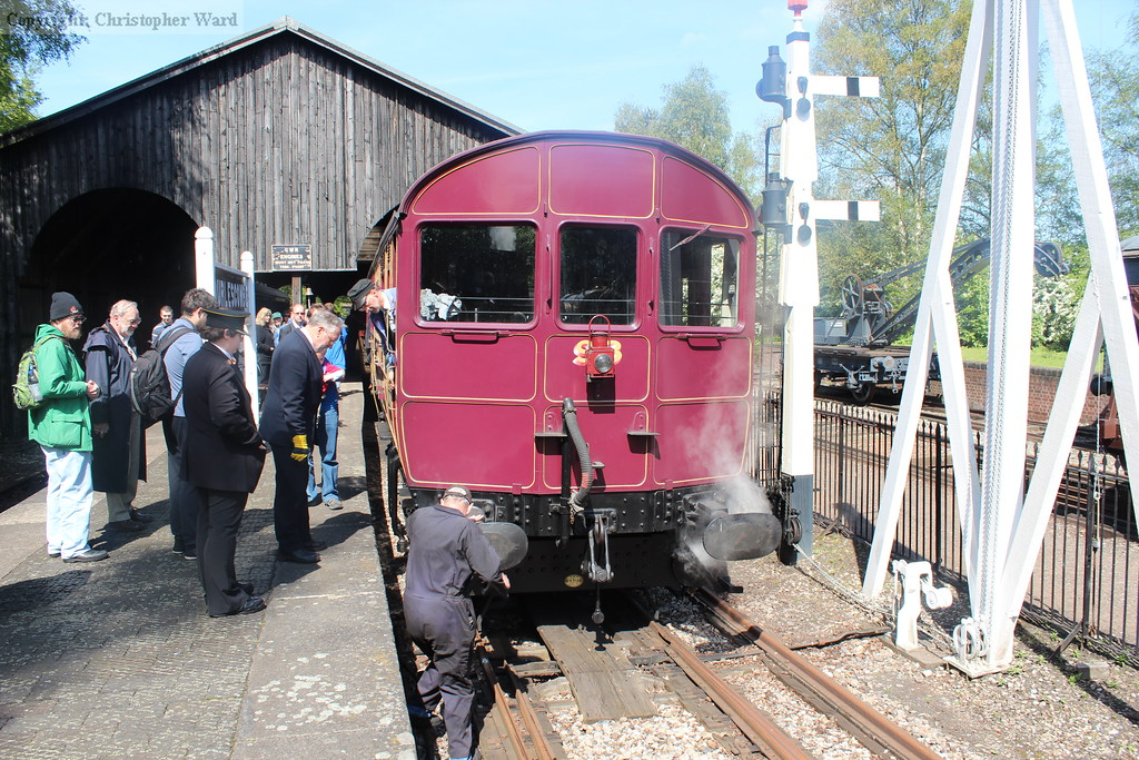 One of the volunteers attends to 93 at the Transfer Shed