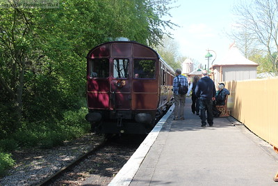 The Railmotor pulls up at the branch platform