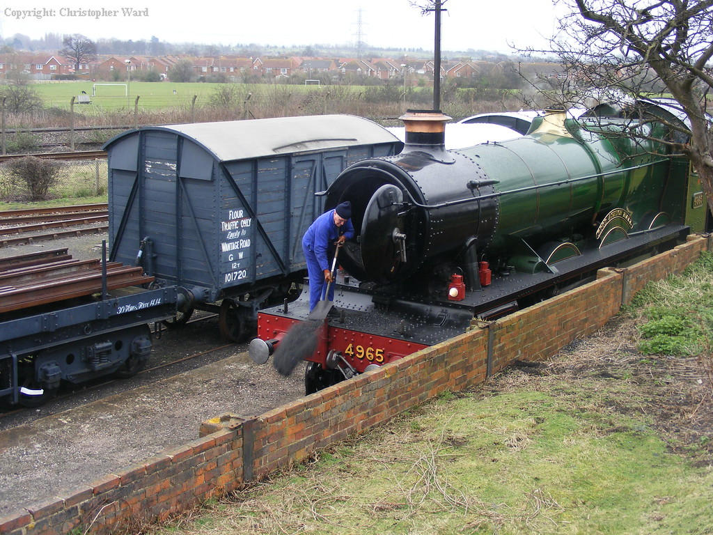 Cleaning the smokebox