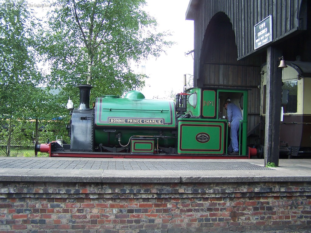 Bonnie Prince Charlie on the standard gauge side of the transfer shed