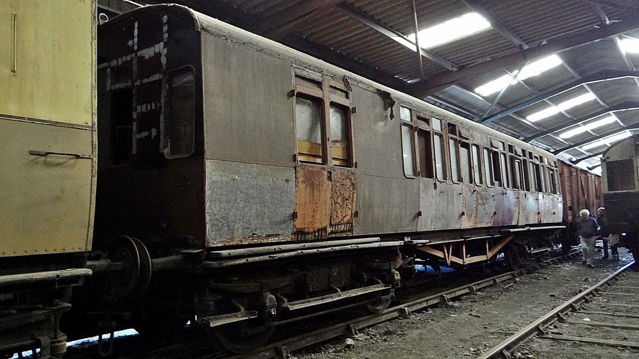 GWR 3756 Churchward non-corridor Brake Third. 13,10,2012