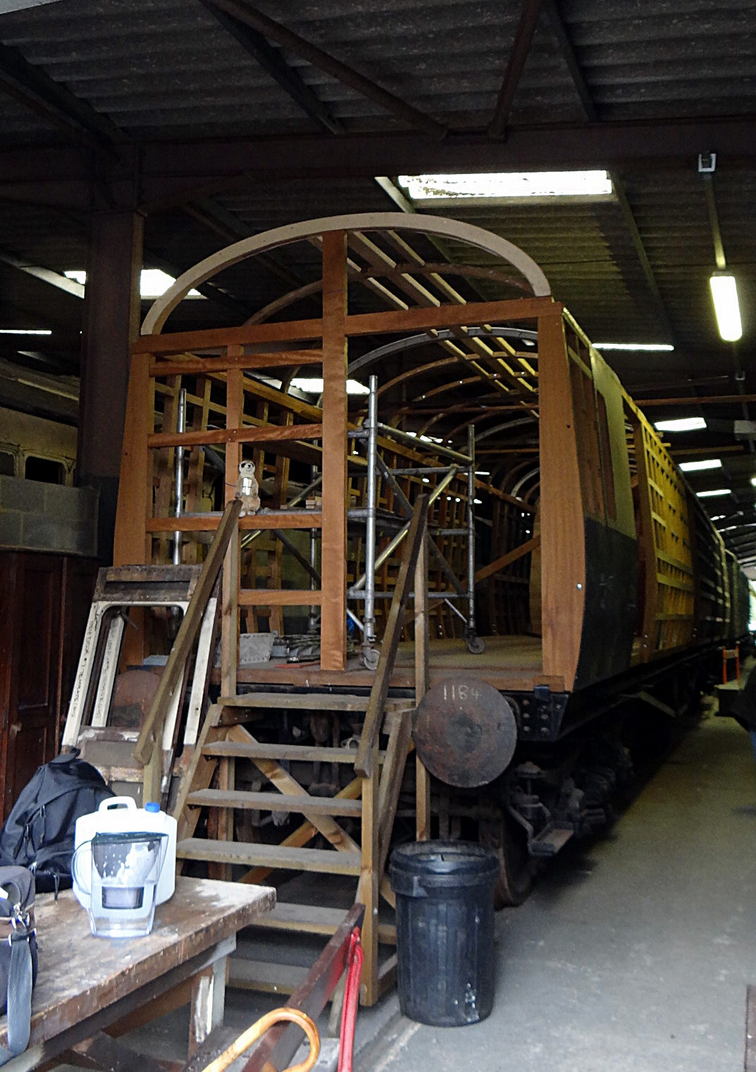 GWR 1184 Gangway Full Brake Collett BG. 13,10,2012