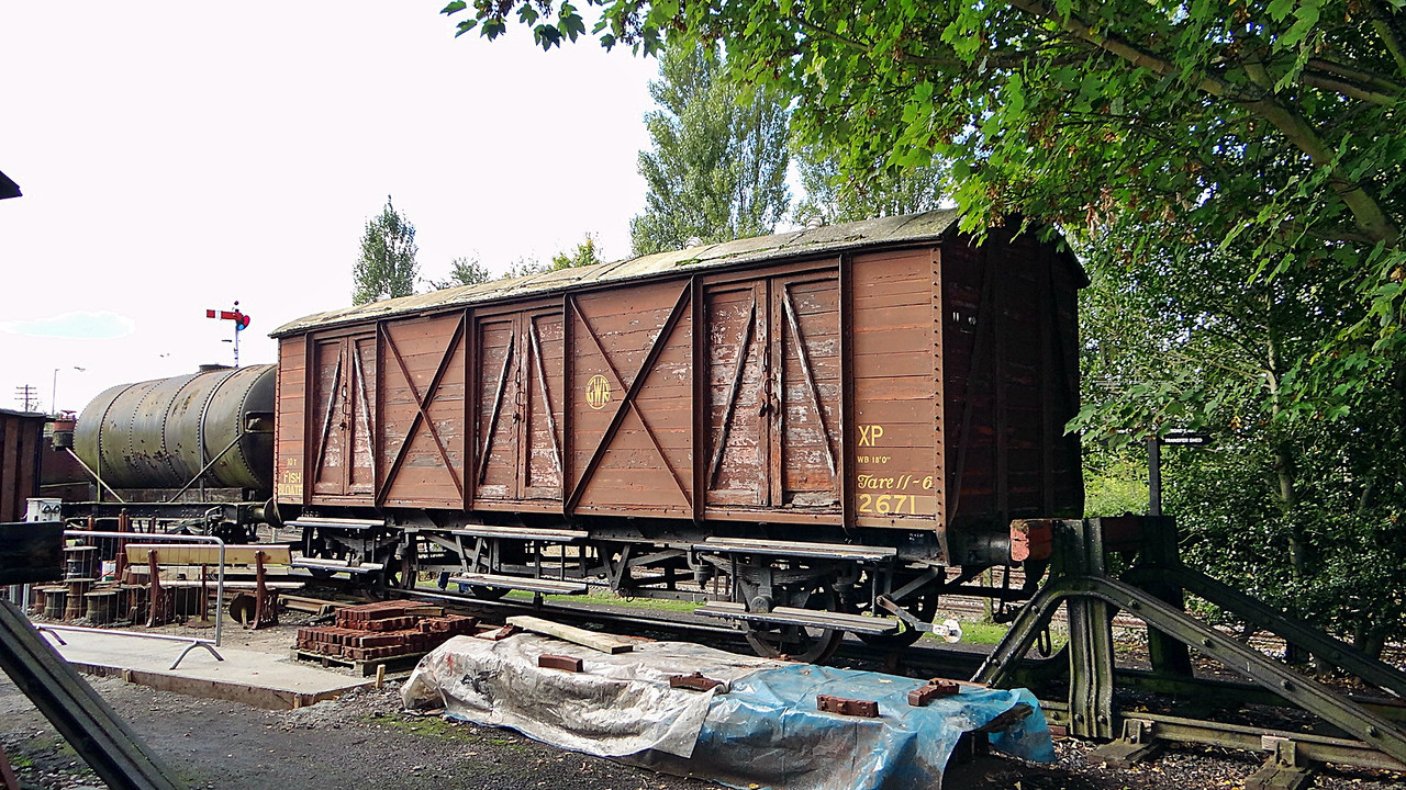 GWR 2671 Vent Fish Van Plank, Bloater. 13,10,2012