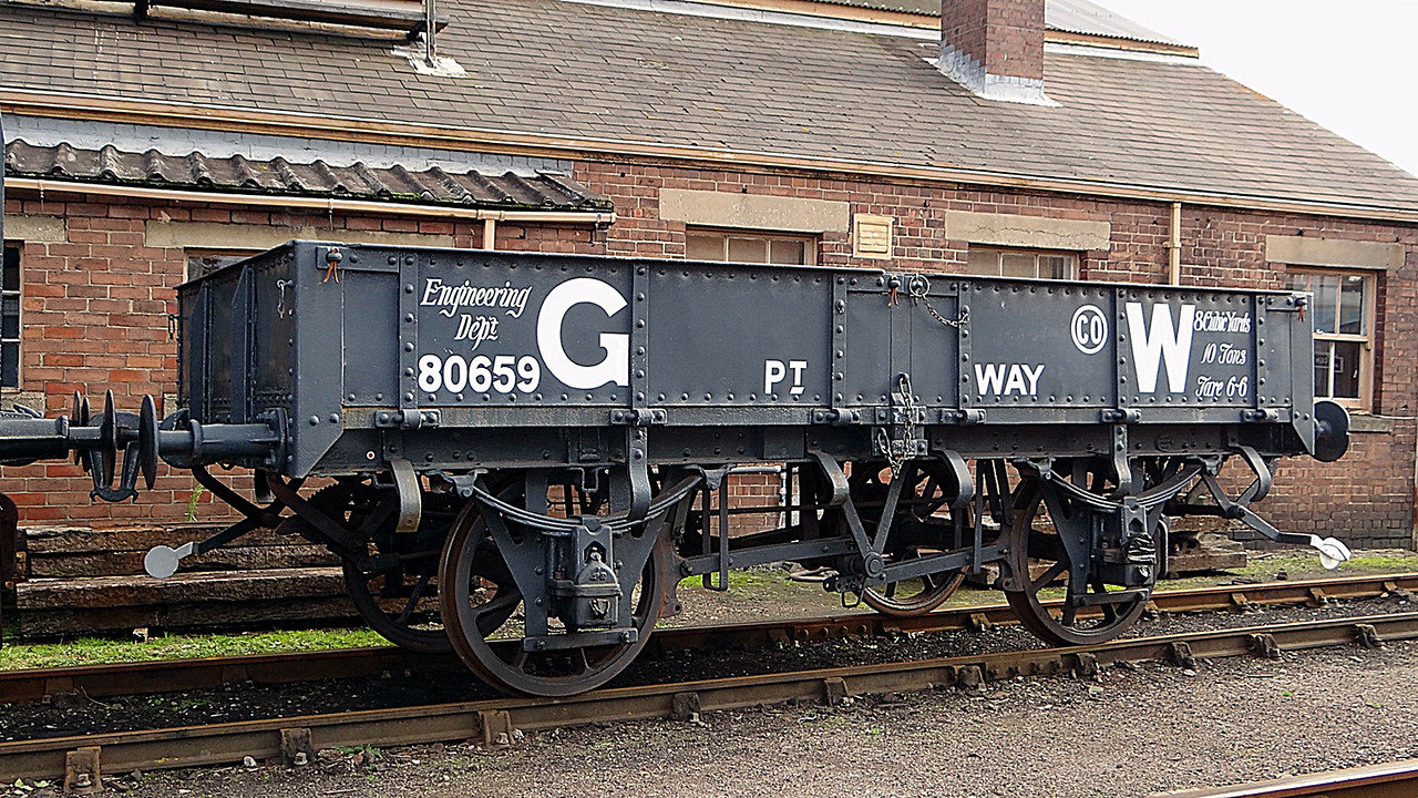 GWR 80659 Ballast Open 'Starfish'. 13,10,2012