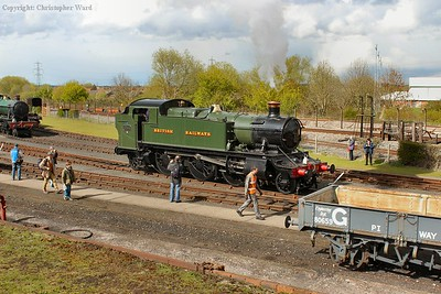 The Prairie prepares to relieve 9466 on the demonstration line