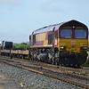 66039 passes Appleford LC with 6M66 Southampton W Docks - Garston